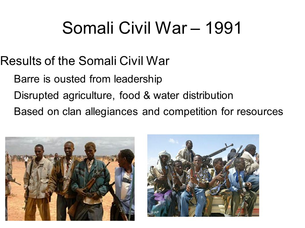Somali Civil War – 1991 Results of the Somali Civil War