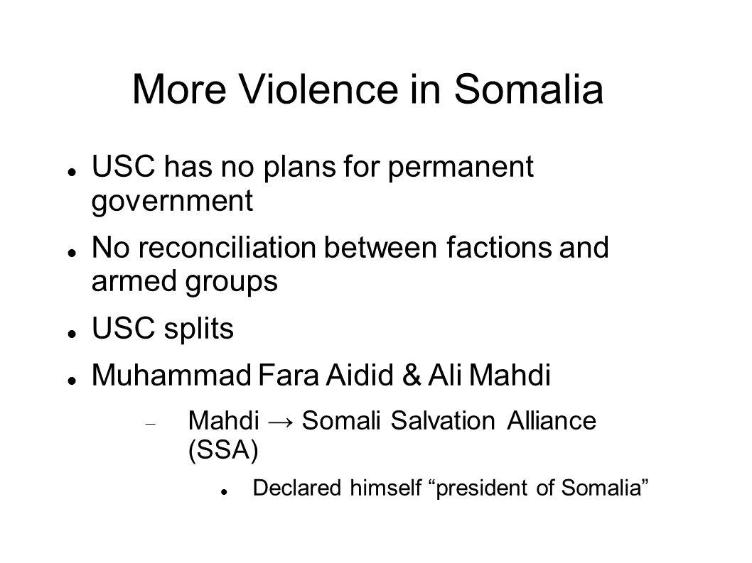 More Violence in Somalia
