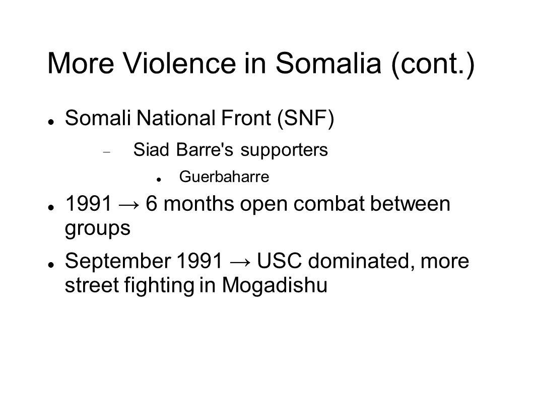 More Violence in Somalia (cont.)