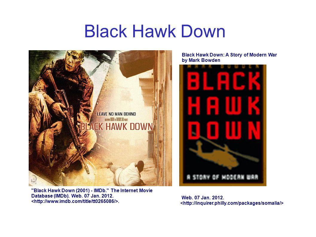 Black Hawk Down Black Hawk Down: A Story of Modern War by Mark Bowden