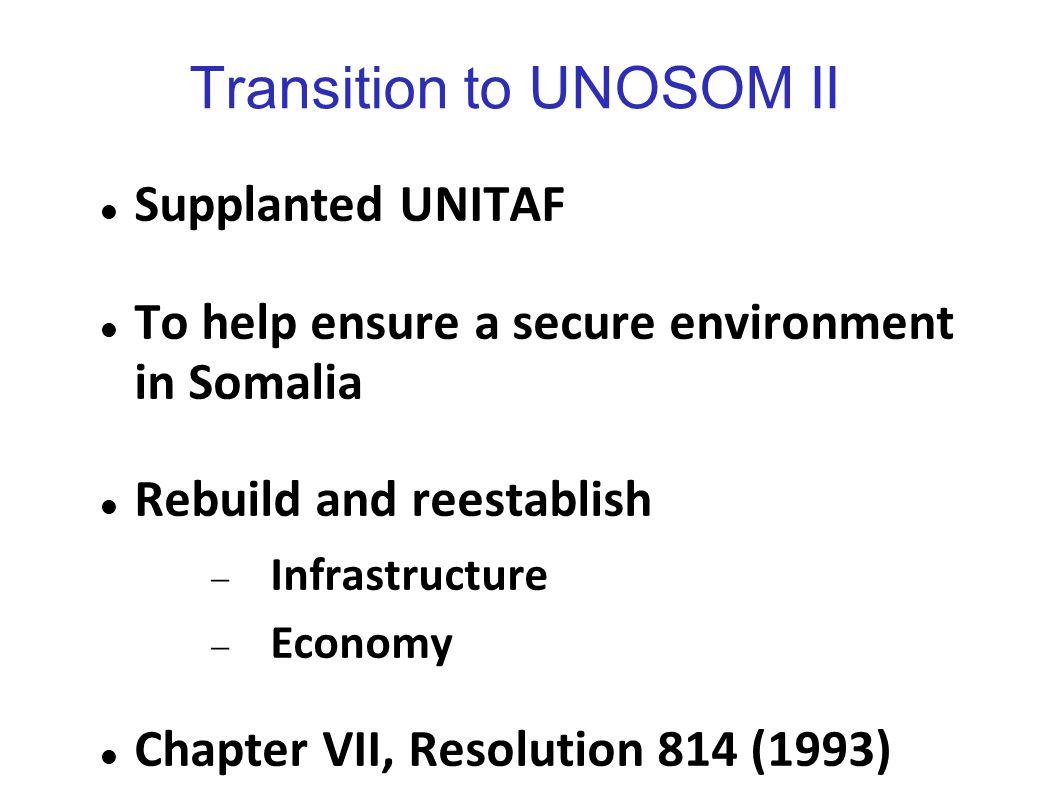 Transition to UNOSOM II