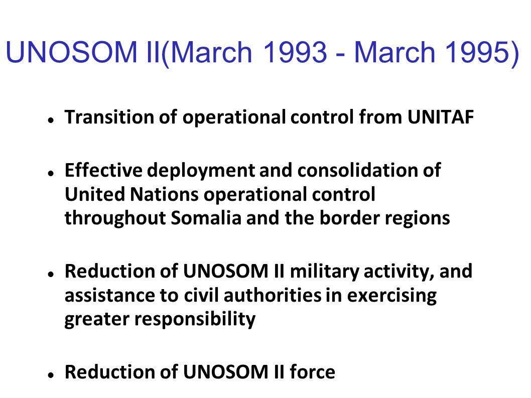 UNOSOM II(March 1993 - March 1995)