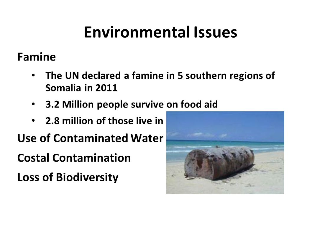 Environmental Issues Famine Use of Contaminated Water