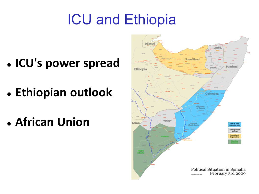 ICU and Ethiopia ICU s power spread Ethiopian outlook African Union