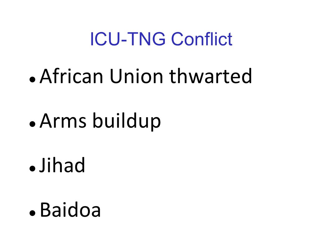 African Union thwarted Arms buildup Jihad Baidoa