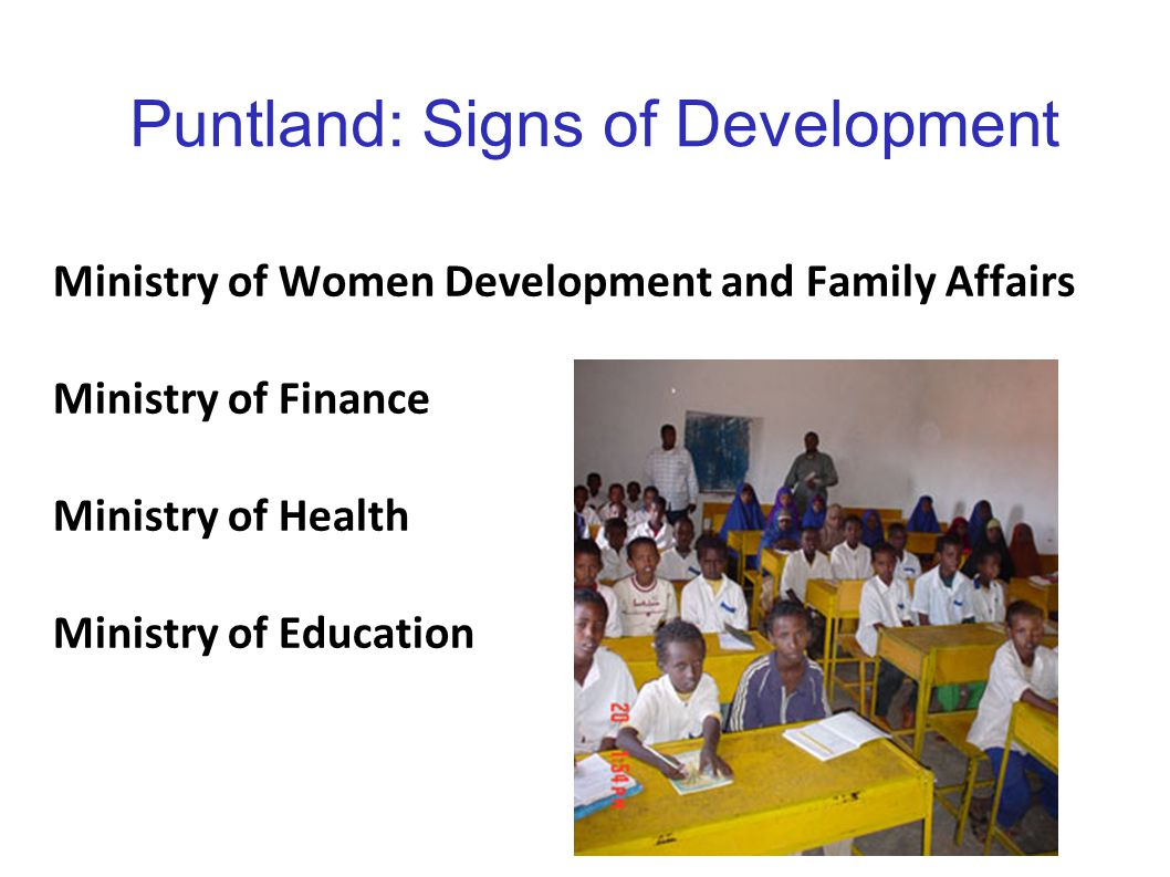 Puntland: Signs of Development