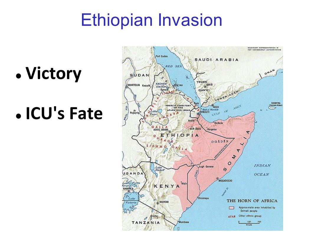 Ethiopian Invasion Victory ICU s Fate