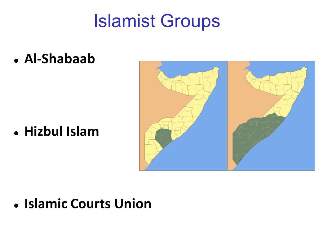 Islamist Groups Al-Shabaab Hizbul Islam Islamic Courts Union