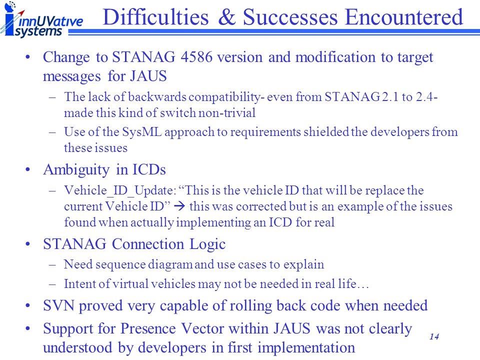 Difficulties & Successes Encountered