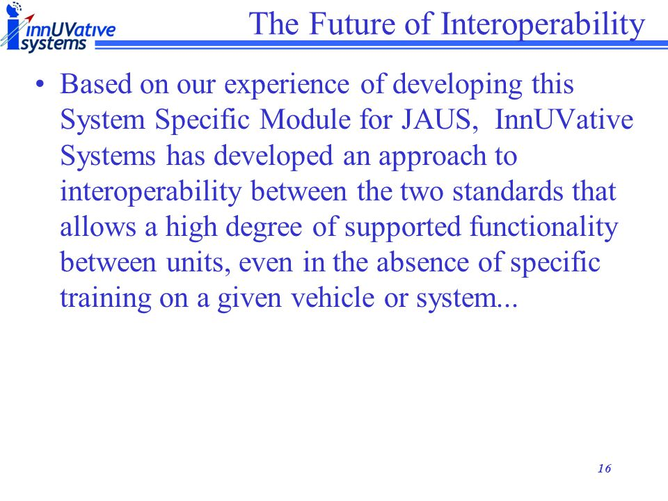 The Future of Interoperability