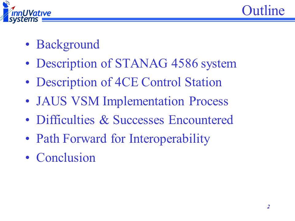 Outline Background Description of STANAG 4586 system