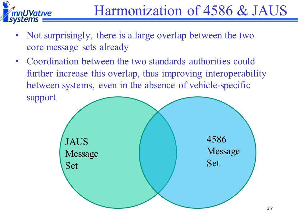 Harmonization of 4586 & JAUS
