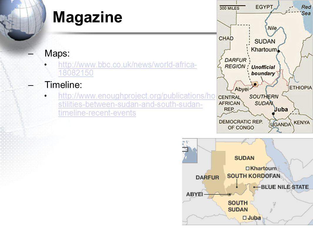 Magazine Maps: Timeline: