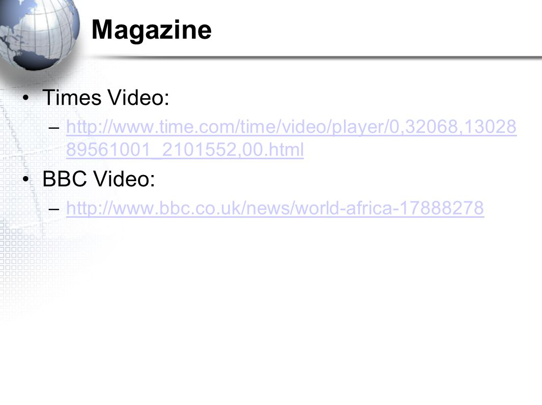Magazine Times Video: BBC Video: