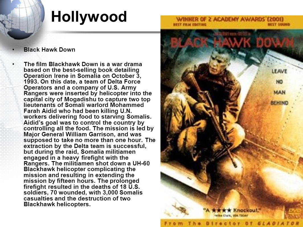 Hollywood Black Hawk Down