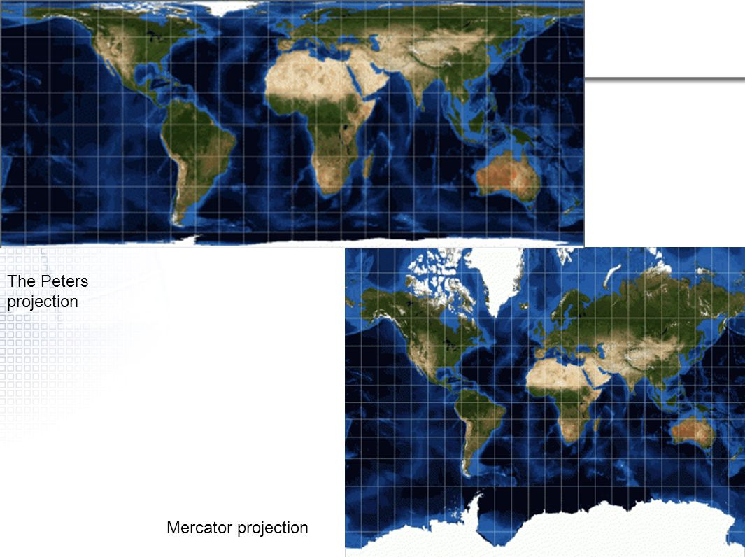 The Peters projection Mercator projection