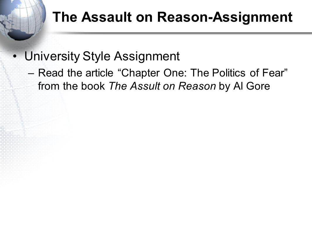 The Assault on Reason-Assignment