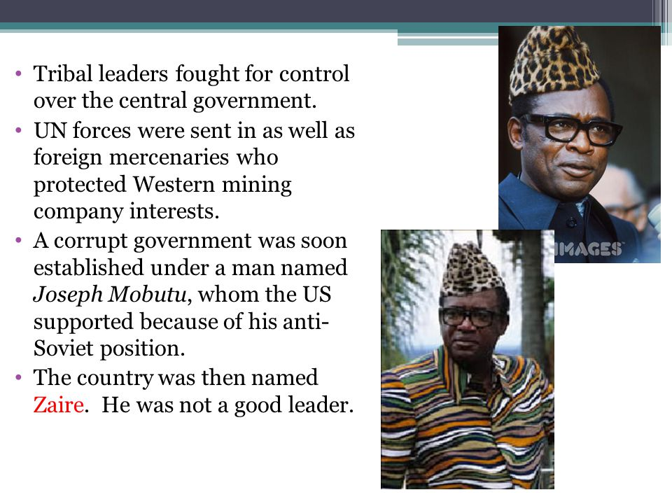 Tribal leaders fought for control over the central government.