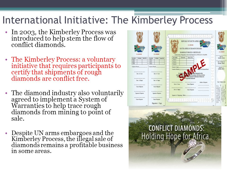 International Initiative: The Kimberley Process