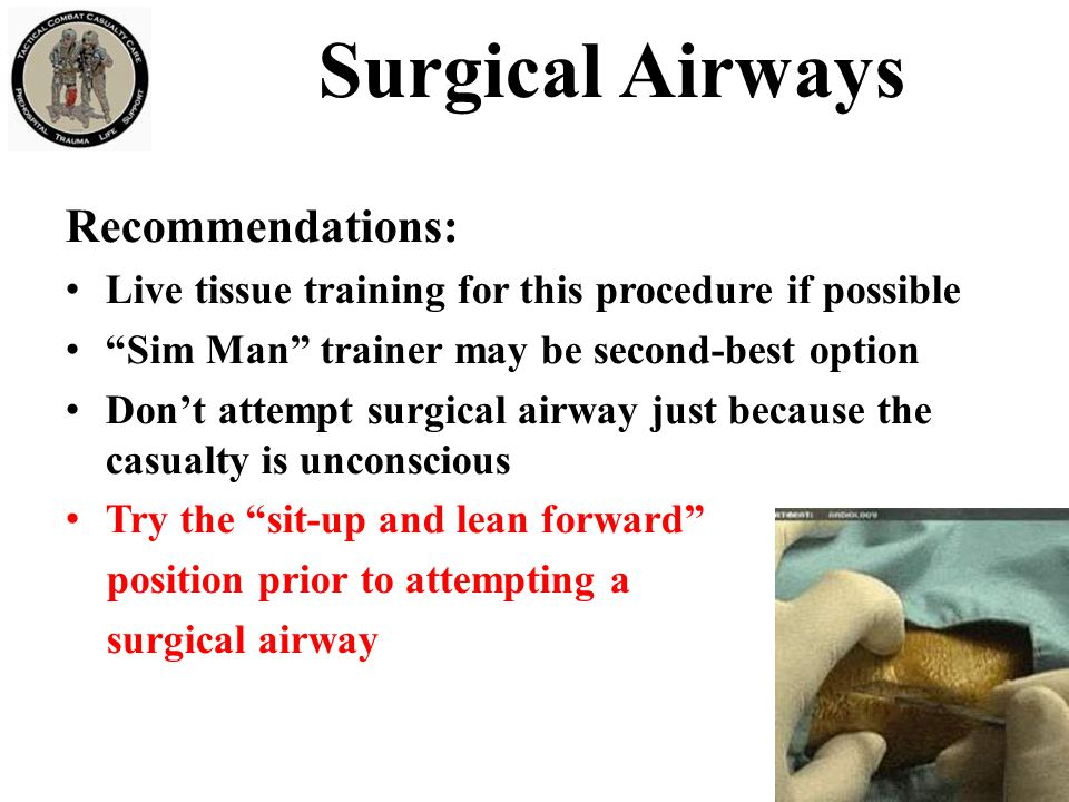 Surgical Airways Recommendations: