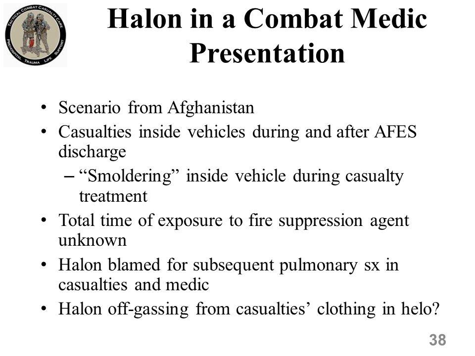 Halon in a Combat Medic Presentation