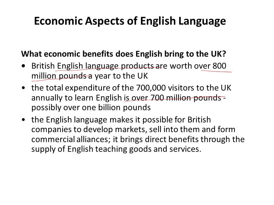 Economic Aspects of English Language