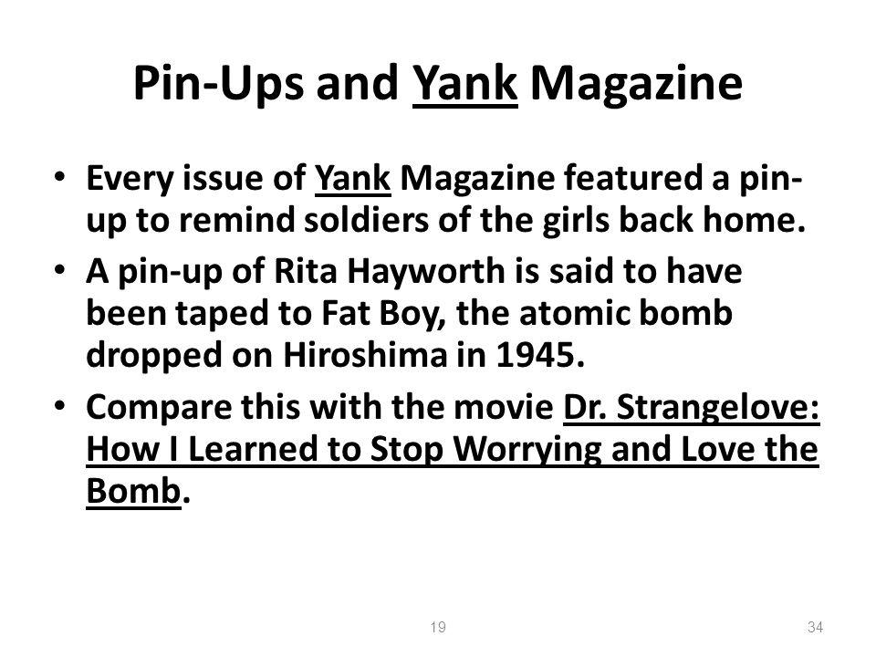 Pin-Ups and Yank Magazine