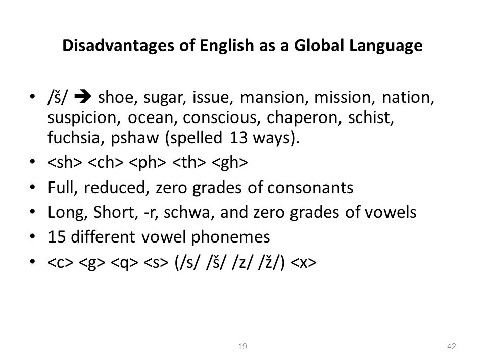 Disadvantages of English as a Global Language