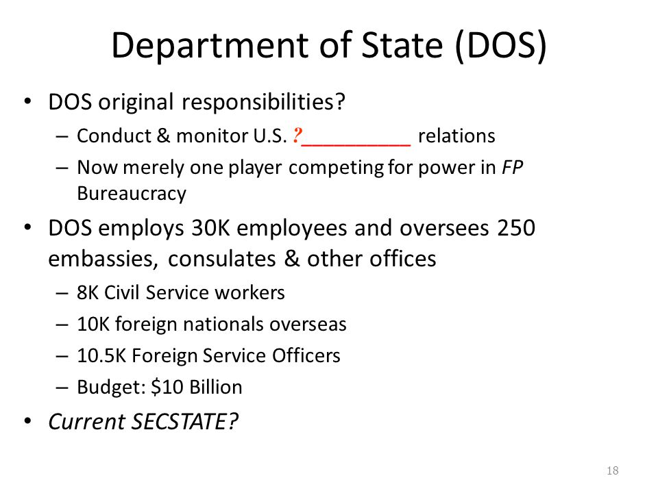 Department of State (DOS)