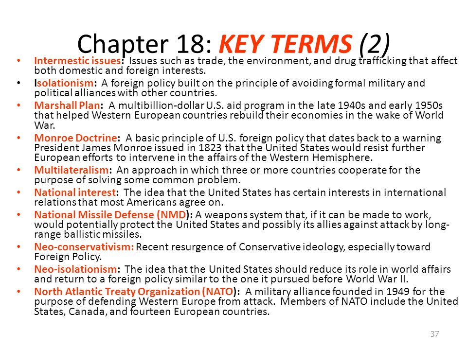 Chapter 18: KEY TERMS (2)