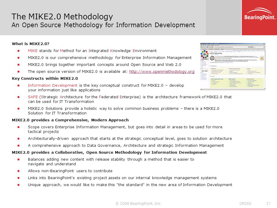 The MIKE2.0 Methodology An Open Source Methodology for Information Development