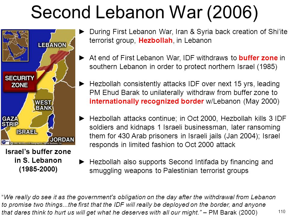 Israel's buffer zone in S. Lebanon