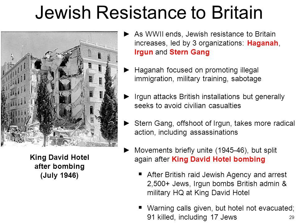 Jewish Resistance to Britain
