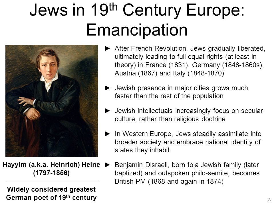 Jews in 19th Century Europe: Emancipation