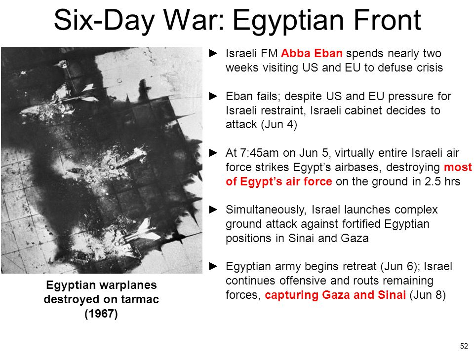 Six-Day War: Egyptian Front