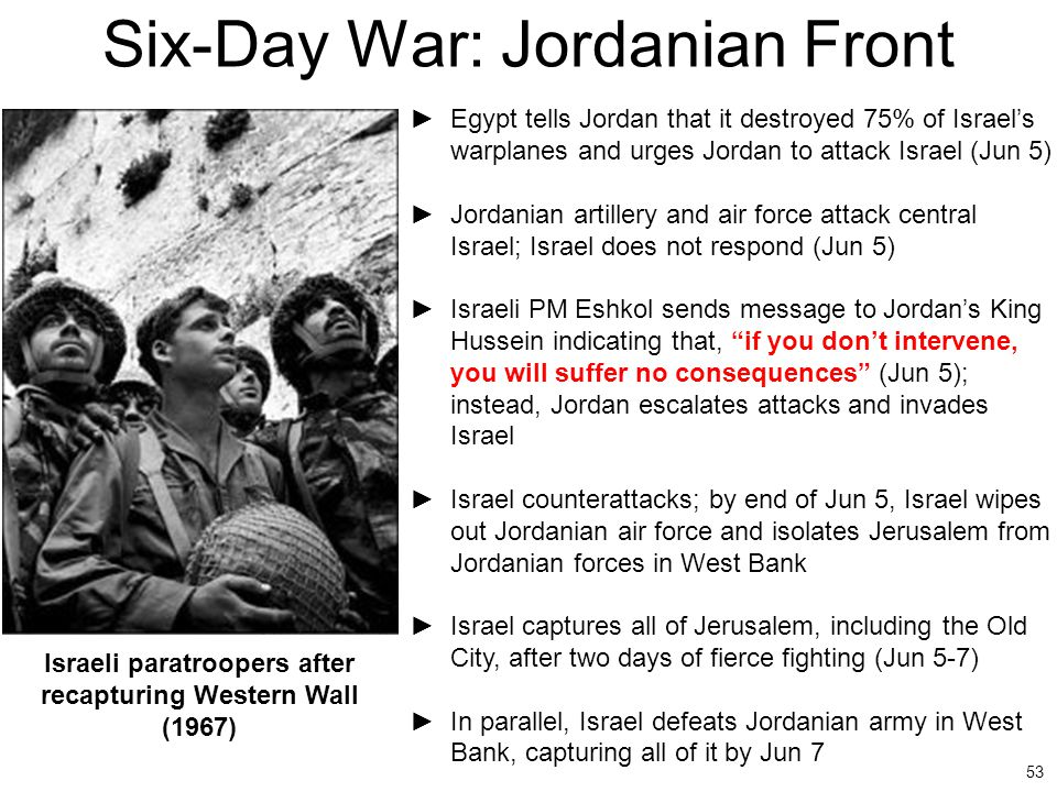 Six-Day War: Jordanian Front