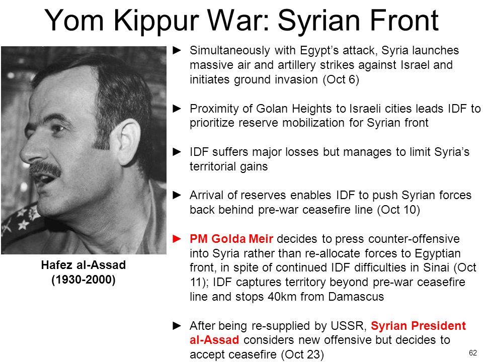 Yom Kippur War: Syrian Front