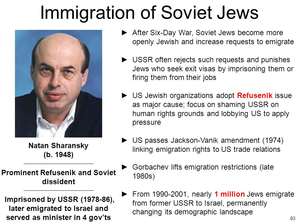 Immigration of Soviet Jews