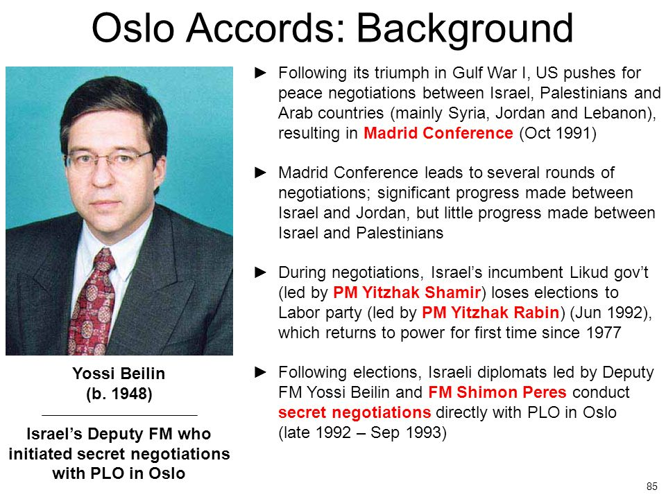 Oslo Accords: Background