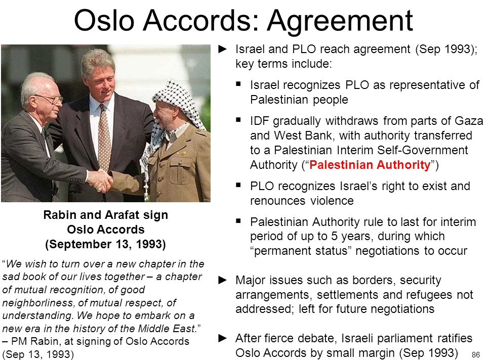 Oslo Accords: Agreement