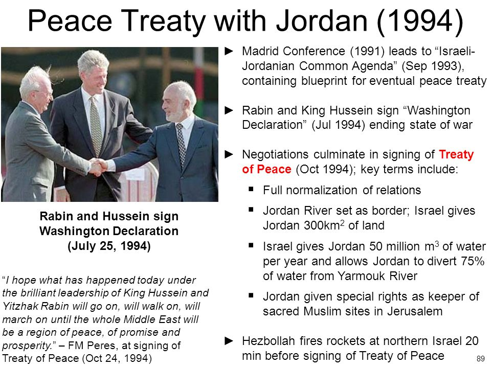 Peace Treaty with Jordan (1994)