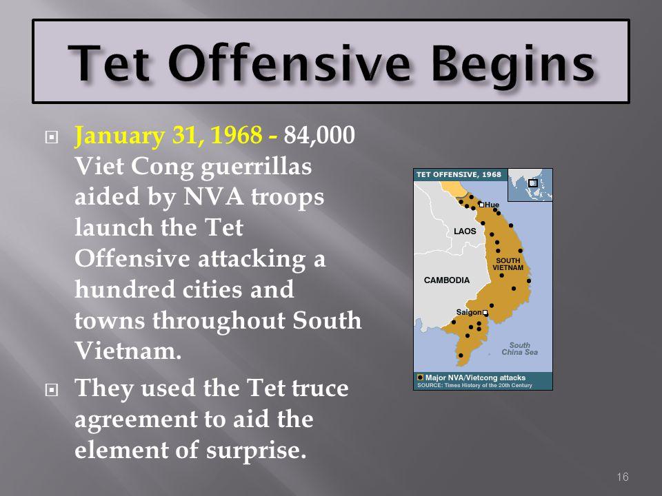Tet Offensive Begins