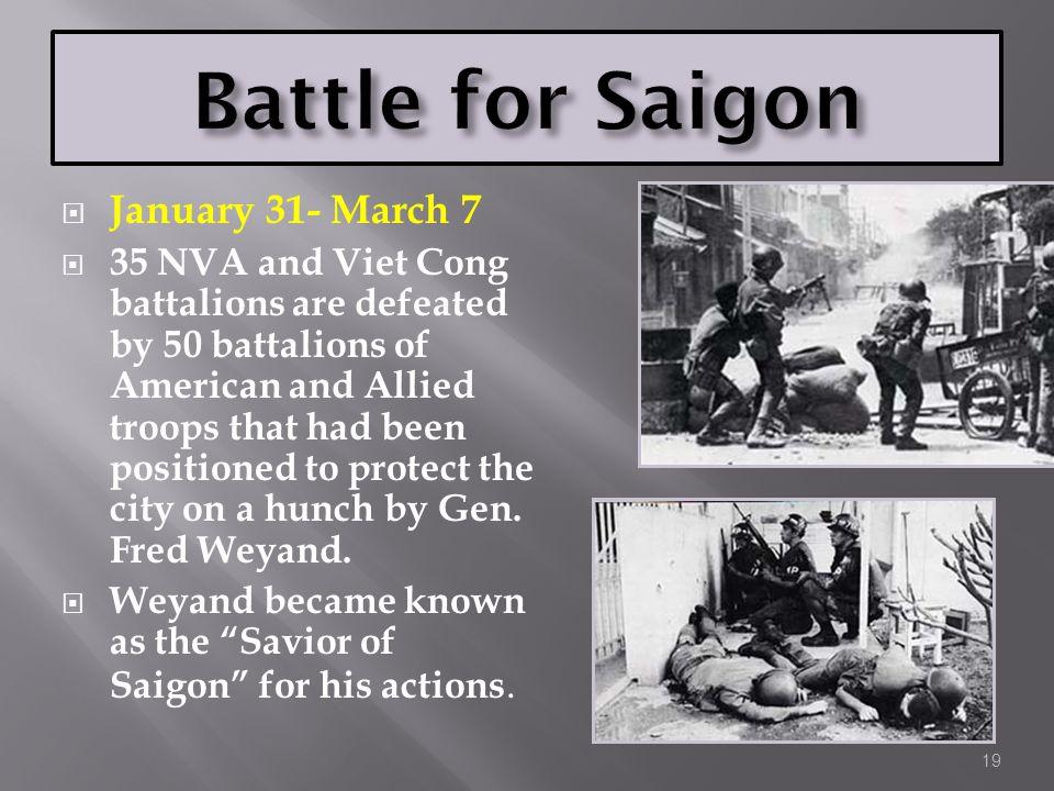 Battle for Saigon January 31- March 7