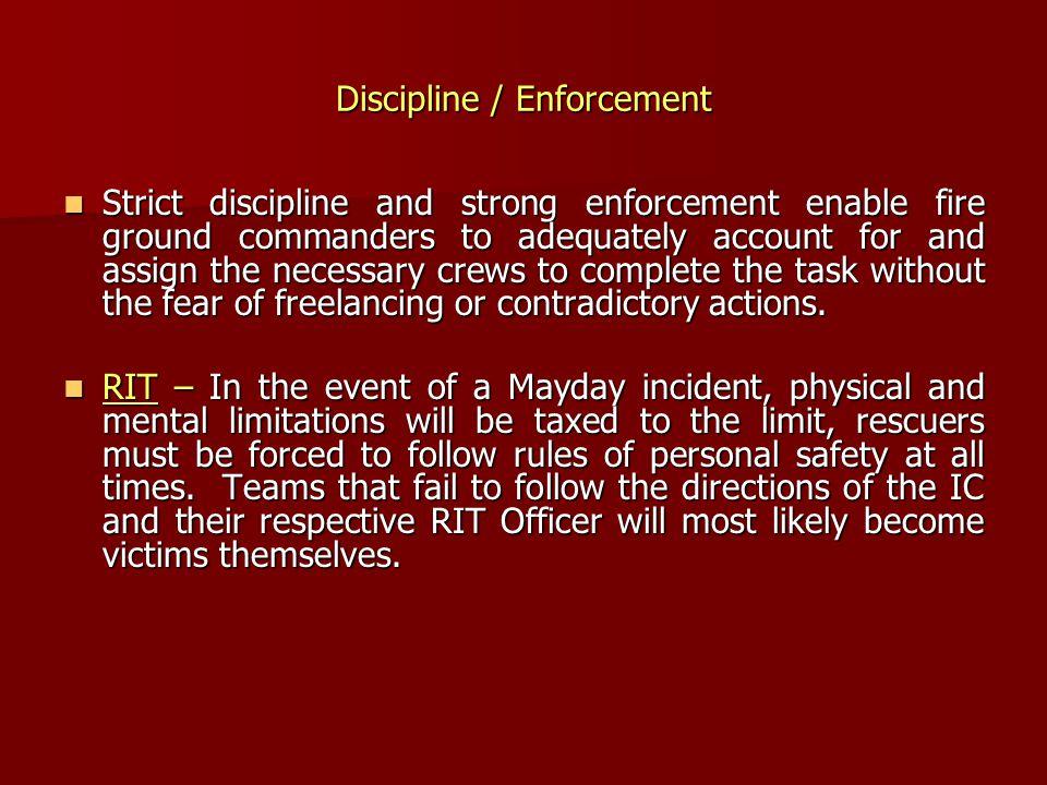 Discipline / Enforcement
