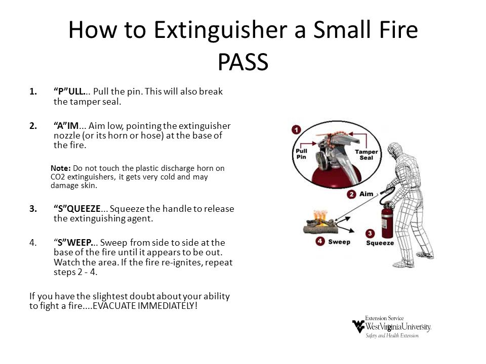 How to Extinguisher a Small Fire PASS