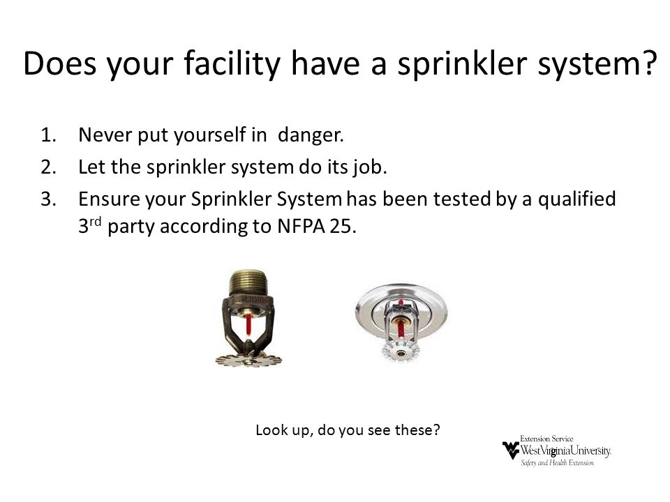 Does your facility have a sprinkler system