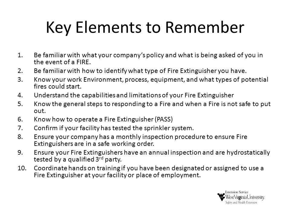 Key Elements to Remember
