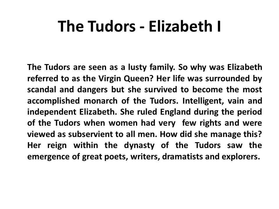 The Tudors - Elizabeth I