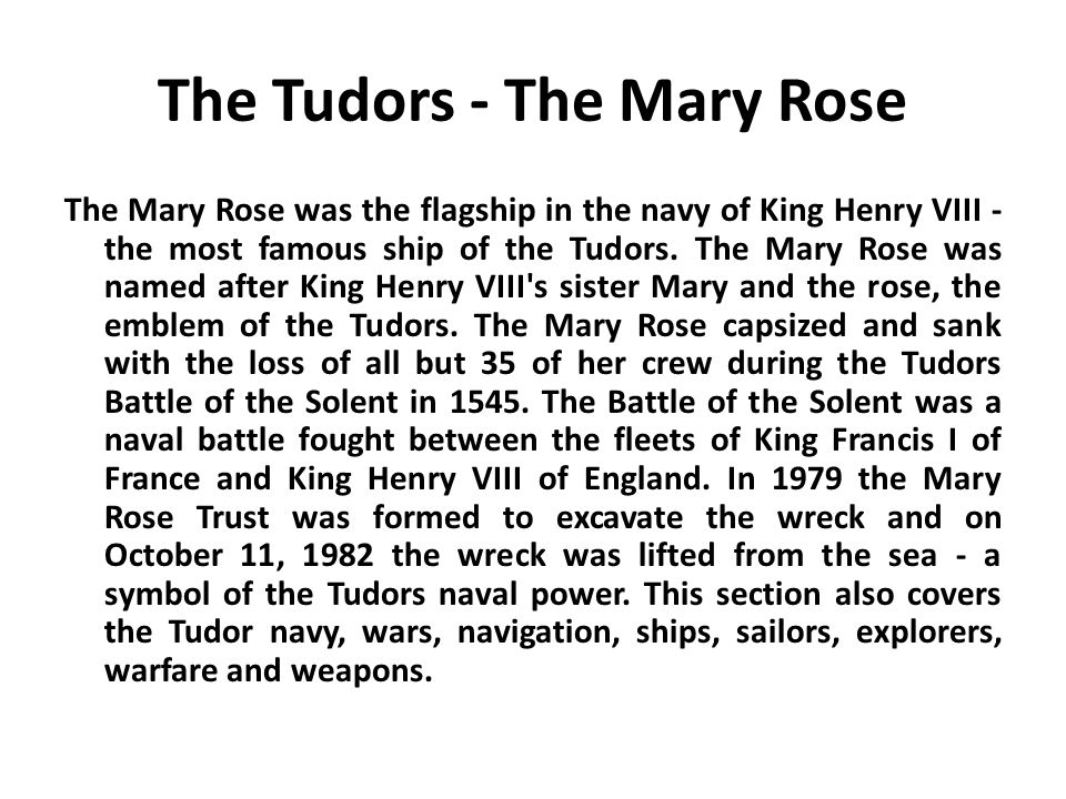 The Tudors - The Mary Rose