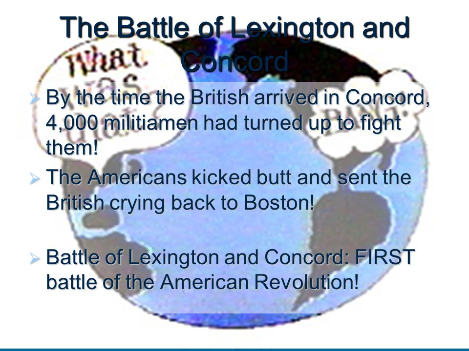 Battle of lexington and concord date in Sydney